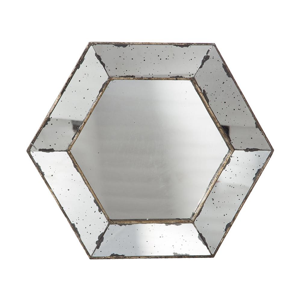 espejo hexagonal 53 x 53 taller de las indias