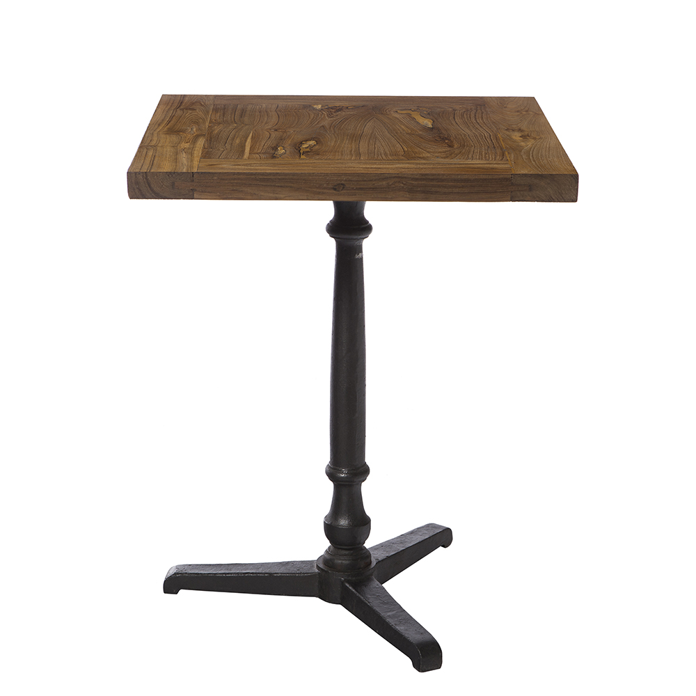 Mesa madera pie hierro taller de las indias - Mesa madera hierro ...